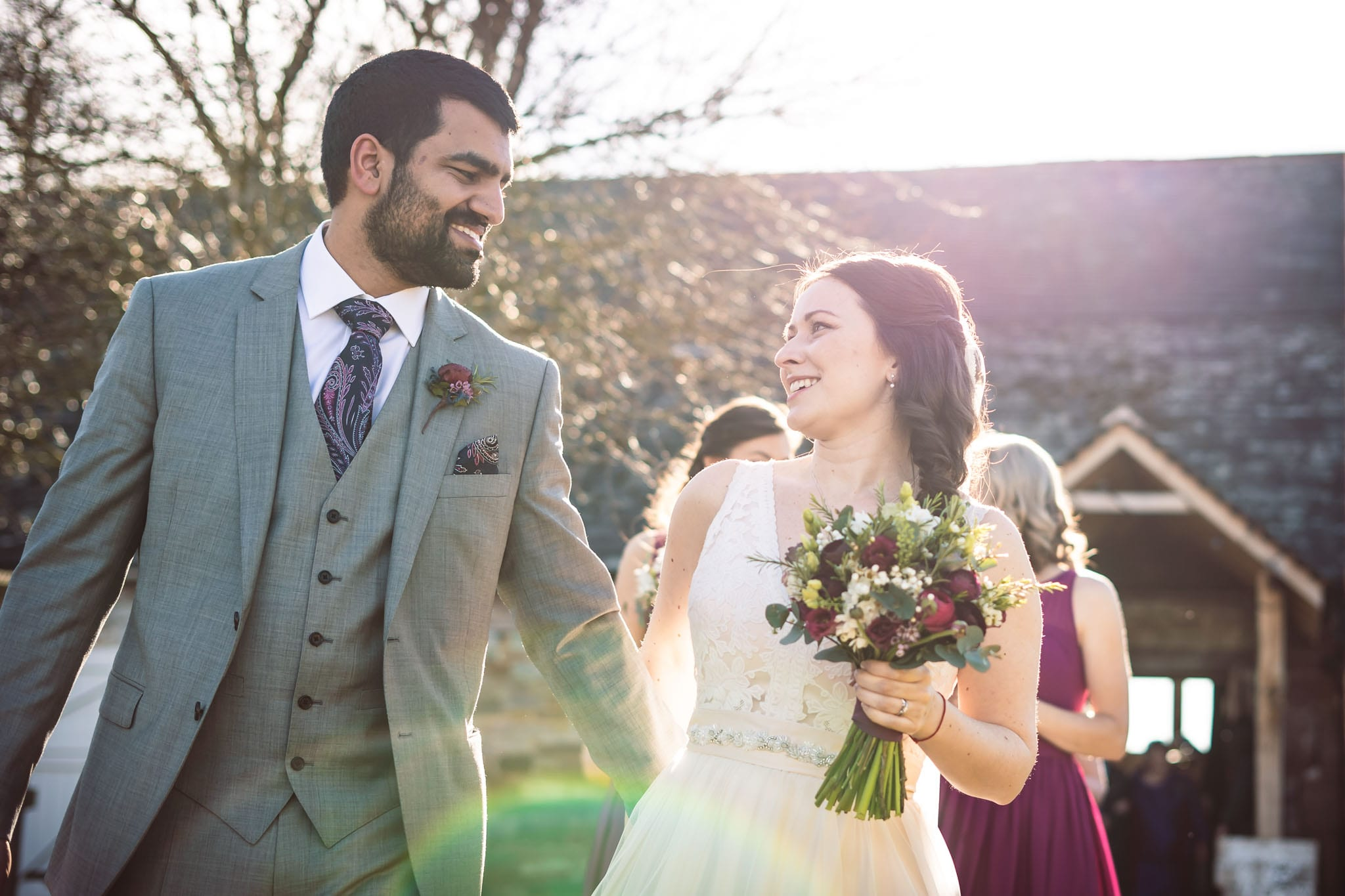Just married at an Askham Hall wedding in the Lake District