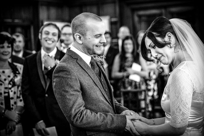 Bride and Groom say 'I do' at Town Hall in Nottingham City Centre