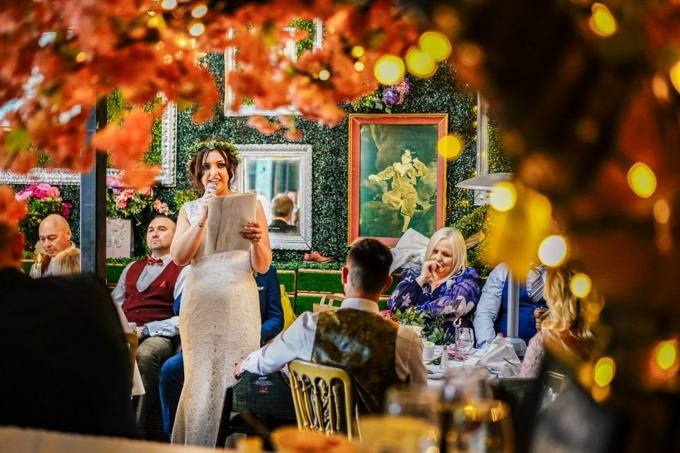 Bride's speech at a wedding in Belfast