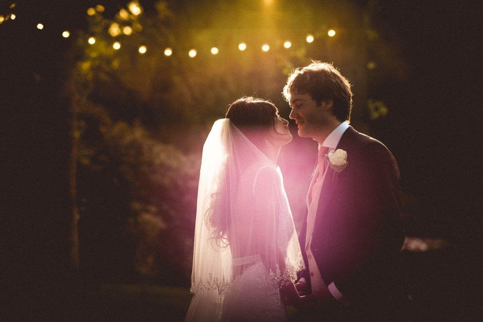 Hyde Estate Wild Garden wedding photography Bride and groom sunset portrait a Hyde Estate Wild Garden wedding in Sussex