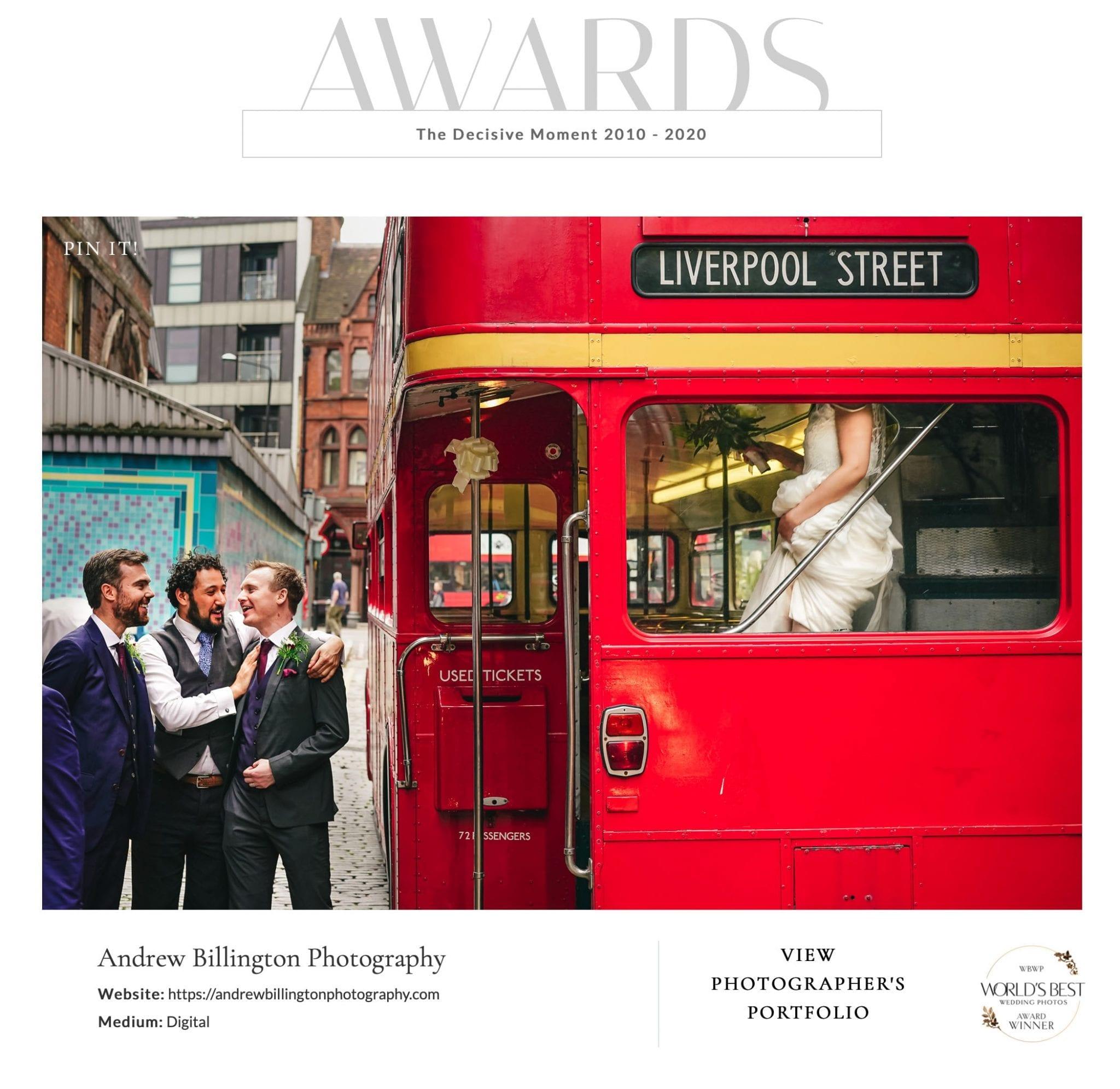Worlds Best Wedding Photos Award