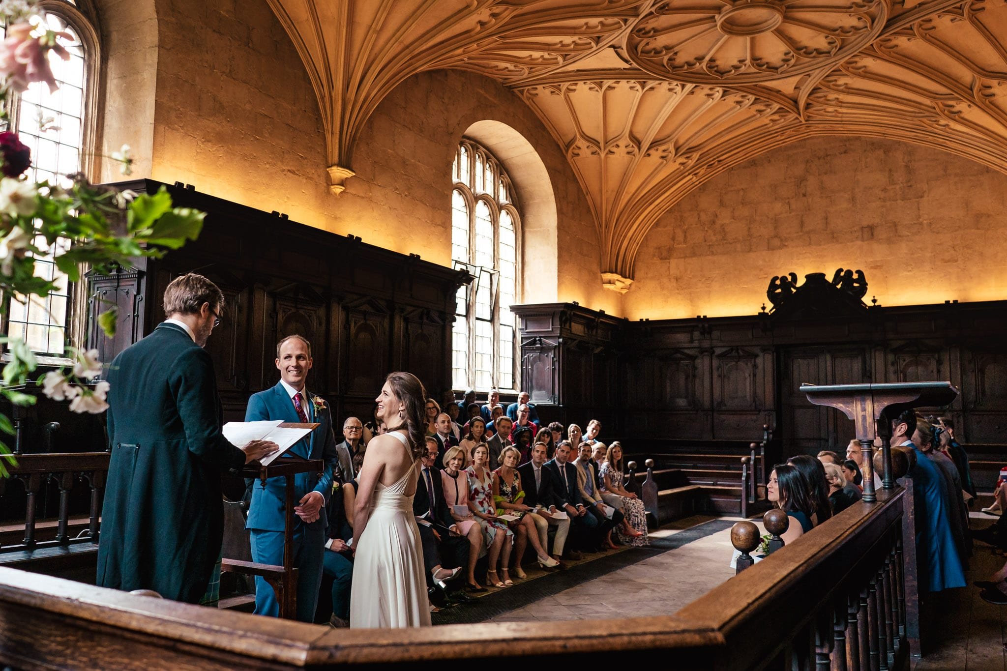 Convocation House wedding ceremony in Oxford