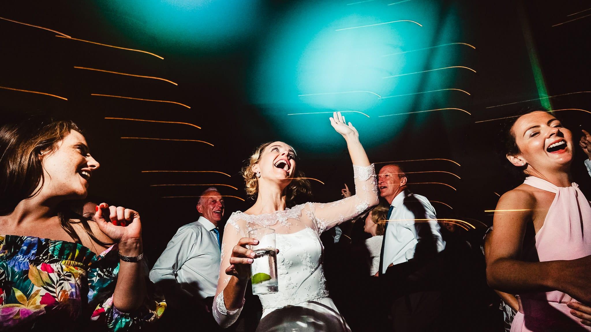 Bride dancing at her wedding